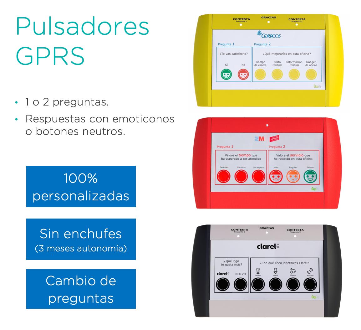 Pulsadores GPRS